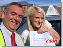 Eleanor from Morpeth with DSA Driving Examiner John Underwood